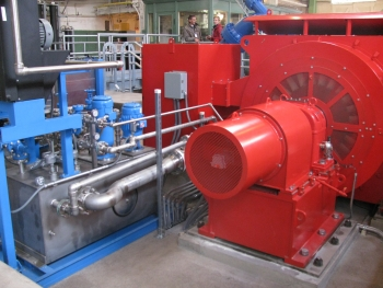 The Boulder Canyon Hydroelectric Facility's new, highly-efficient turbine. | Photo courtesy of the city of Boulder, Colorado.