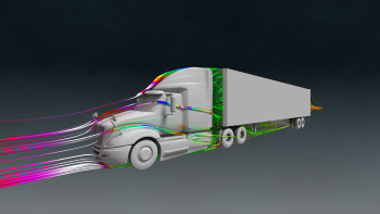 Find out how we connect scientists with innovators and entrepreneurs, like the company who used the National Labs' supercomputing power to model aerodynamics of long-haul trucks to improve efficiency. | Image by Oak Ridge National Laboratory