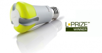 This 10-watt alternative LED bulb (which glows white when turned on) could save the nation about 35 terawatt-hours of electricity or $3.9 billion in one year and avoid 20 million metric tons of carbon emissions if every 60-watt incandescent bulb in the U.S. was replaced with the L Prize winner.   Photo Courtesy of Philips Lighting North America