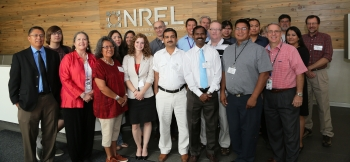 Students and faculty participating in AIREI gather at the one-week Energy Summer Institute, held at NREL last summer.