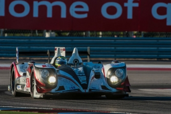 Team Muscle Milk won the American Le Mans Series race at the Circuit of the Americas in Austin, Texas last weekend. The Honda ARX-03c runs on E10 fuel. | Photo courtesy of Rizzo Motorsports Images