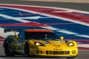 A Corvette running on E85 fuel won the GT class at Circuit of the Americas. | Photo courtesy of Rizzo Motorsports Images