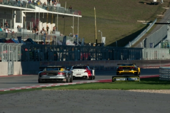 Cars jockey for position during the American Le Mans Series race at the Circuit of the Americas. | Photo courtesy of Rizzo Motorsports Images