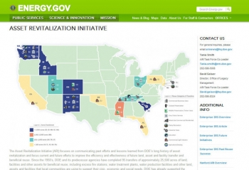 Screenshot of Asset Revitalization Initiative (ARI) website.