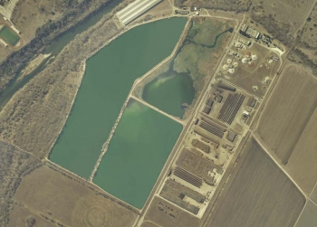 An aerial view of the Hornsby Bend Biosolids Management Plant in Austin, Texas. | Photo courtesy of Austin Water.