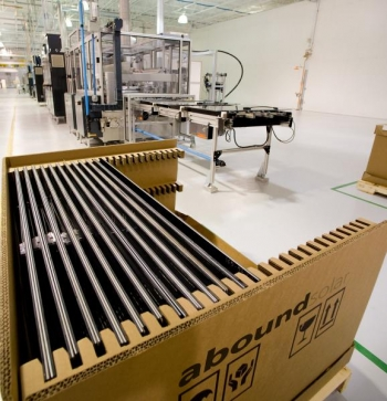 The end of Abound Solar's PV manufacturing line | Photo Courtesy of Abound Solar