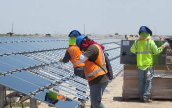 The Agua Caliente solar facility in Arizona continues to provide economic opportunities for area businesses.   Photo courtesy of First Solar.