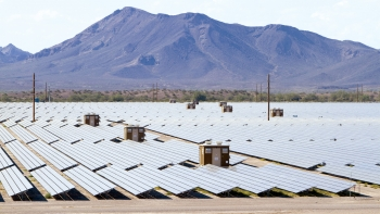 LPO issued a $967 million loan guarantee to Agua Caliente, a 290-MW photovoltaic solar project located in Yuma County, Arizona.   Photo courtesy of NRG Solar.