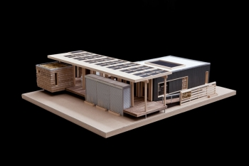 Appalachian State University's Solar Homestead design model  courtesy of The Solar Homestead's official Facebook page