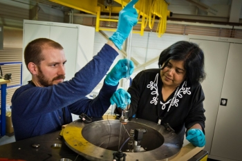 Ashfia Huq is a Lead Scientist of the Powgen beamline, in the Chemical and Engineering Materials Division at the Spallation Neutron Source at Oak Ridge National Laboratory.