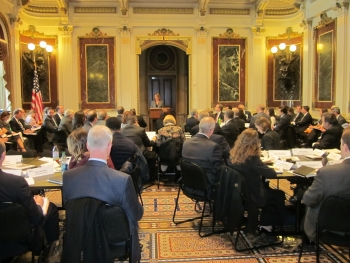 Last week, Better Buildings Challenge partners and others discussed how these organizations are successfully making energy efficiency a key part of how they do business.   Photo courtesy of Monica Neukomm, Energy Department.