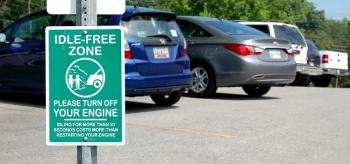 When waiting to pick your kids up from school, turn off your car instead of idling in the parking lot. <em>Photo from Kristy Keel-Blackmon, East Ten, NREL 6324897</em>