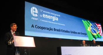 Deputy Secretary Daniel Poneman addresses attendees at the 12th International Meeting of Energy during his recent trip to Brazil | Department of Energy Image | Photo by Jen Stutsman