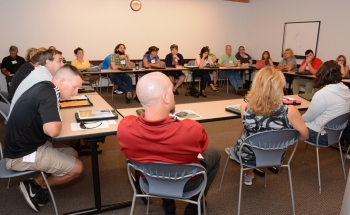 Area teachers talk with officials at the Portsmouth Site about employment needs in surrounding southern Ohio communities.