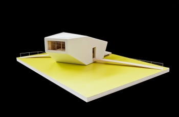 A model of the SCI-Arc/Caltech Solar Deacthlon team's CHIP house.   Photo Courtesy of the Solar Decathlon's Flickr photostream