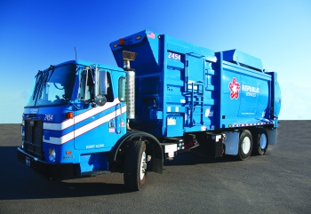 Republic Services is one of three new companies participating in the National Clean Fleets Partnership. The company aims to have more than 2,500 trucks running on alternative fuel by 2015. | Photo courtesy of Republic Services