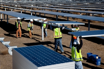 According to NRG Energy, the California Solar Valley Ranch project has created thousands of jobs and put an estimated $315 million into the local economy.   Photo courtesy of SunPower.
