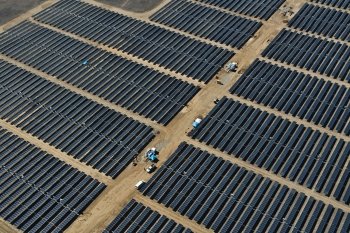 The California Valley Solar Ranch has a capacity of 250 MW -- enough energy to power the equivalent of every home in San Luis Obispo County.   Photo courtesy of SunPower.