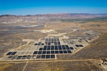 Arial shot of the California Valley Solar Ranch in San Luis Obispo County.   Photo courtesy of SunPower.