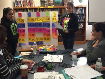Calcutt Middle School students in Rhode Island played Energy Jeopardy! as part of their NEED Energy Carnival. The students used the NEED Project website to write questions for the game.