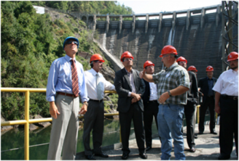The 91-year old Cheoah Dam in Robbinsville, North Carolina.