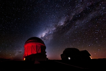 Stars above the Cerro Tololo Inter-American Observatory in Chile where the DECam is located.   Photo courtesy of Reidar Hahn at Fermilab.