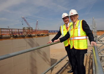 Secretary Chu traveled to Waynesboro, Georgia, to visit the Vogtle nuclear power plant, the site of what will be the first new nuclear reactors to be built in the United States in three decades. | Image credit: Southern Company.