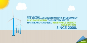 "Over the past four years, the United States has reclaimed the title as the world's leading investor in clean energy technologies and we are on track to double renewable energy generation. Join Secretary Chu for a live chat on the benefits of transitioning to a clean energy economy Friday, April 20, 2012 at 10:45 am ET at <a href=""http://www.energy.gov/livechat"">Energy.gov/LiveChat.</a>"