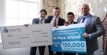 Heila Technologies, from the Massachusetts Institute of Technology, won the 2016 Cleantech UP National Competition. | Energy Department photo.