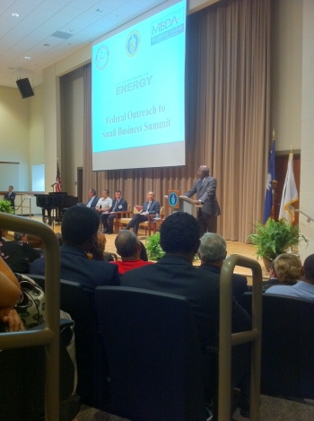Congressman James Clyburn speaks to South Carolina small business owners   Courtesy of Damien LaVera