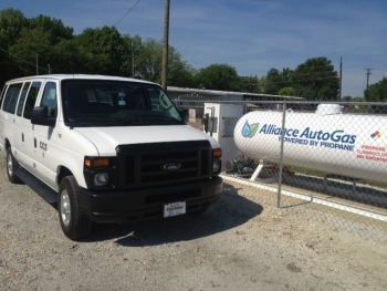 Mississippi's Community Counseling Services converted 29 vans to run on propane, saving more than $1.50 per gallon on fuel or more than $60,000 a year.   Photo courtesy of Community Counseling Services.