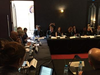 Energy Secretary Moniz delivers remarks at COP22 Global Clean Energy Investors Roundtable (credit DOE).
