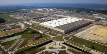 The Portsmouth Site's large process buildings and other facilities are shown here.