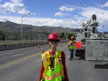 Los Alamos bridge engineer Crystal J. Rodarte-Romero is a proud steward of the historic bridge and is honored to extend its life with design modifications and forthcoming modeling.
