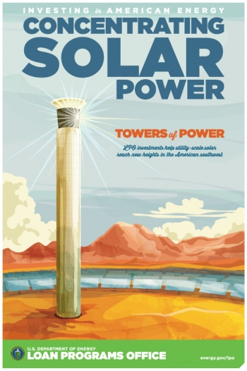 "Between 2010 and 2011, LPO financed five concentrating solar power (CSP) projects, including the massive <a href=""/node/851356"">Ivanpah ""power tower"" solar plant</a> in California."
