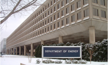 Department of Energy headquarters during the winter months.   DOE file photo.
