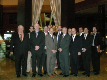The U.S. delegation of DOE representatives, including DOE national laboratory andcontractor staff, are pictured, front row, left to right, Doug Akers, Steve Schneider,Robert Montgomery, Dan McCabe, Steve Herring, Paul Bredt, Rich Abitz; back row,left to right, Jeff Miller, Jeff Griffin, Bob Sindelar, Reid Peterson, Chuck Negin, andWayne Johnson.