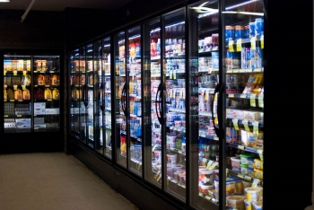 The new, more efficient refrigeration units, compressors, and evaporators installed at the Benewah Market could reduce the store's energy usage by up to 45%—meaning projected cost savings of more than $16,065 per year for the Coeur d'Alene Tribe. Photo from Jennifer Fletcher, Coeur d'Alene Tribe Council Fires Newspaper
