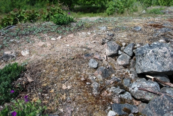 The ruins of a Swedish hillfort site are shown here.
