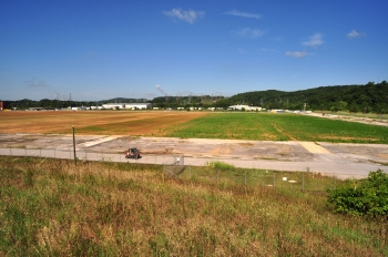AFTER: This photo shows the site of Building K-33 following completion of the demolition project.