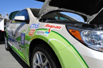"Embry Riddle University's vehicle, <a href=""http://www.ecocar2.org/teams-list/embry-riddle"">part of the Energy Department's EcoCAR2 student competition</a>, on display at the Rolex 24 at Daytona 
