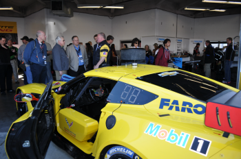 The Chevrolet Corvette GTLM car at the Rolex 24 at Daytona. The car runs on renewable cellulosic ethanol. | Photo by Natalie Committee, Energy Department