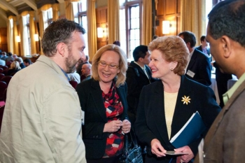 Senator Debbie Stabenow at the Revitalizing Innovation in Michigan for Clean Energy Manufacturing Workshop