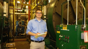 Dan Borgnakke, University of Michigan undergraduate, awarded Outstanding IAC Engineering Student of the year.   Photo courtesy of University of Michigan