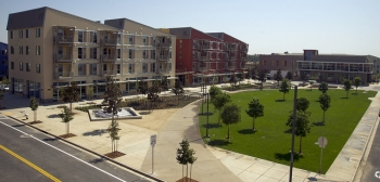 The new Viridian apartments at West Village at UC Davis.   Photo from UC Davis ARM