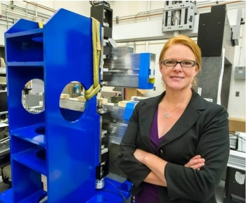 Dawn Munson is a Mechanical Engineer for the Engineering Division at Lawrence Berkeley National Laboratory. Photo by Roy Kaltschmidt.