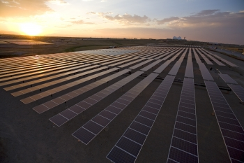 This two megawatt installation at Denver International Airport is owned by Constellation Energy, a utility based in Baltimore, MD. (Photo Courtesy: Denver International Airport)