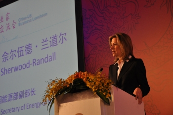 Deputy Secretary Elizabeth Sherwood-Randall speaks at a meeting during a Business Development Mission to the People's Republic of China.