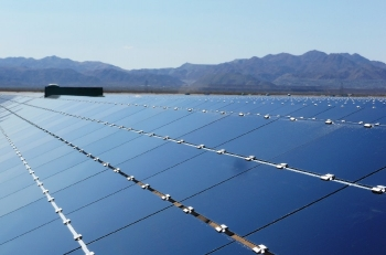 LPO issued a $1.46 billion loan guarantee to Desert Sunlight, a 550-MW photovoltaic solar project located in Riverside County, California. | Photo courtesy of NextEra Energy Resources.