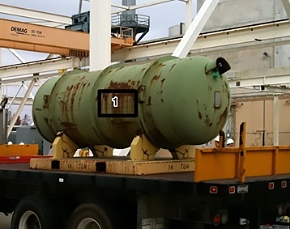 The Paducah plant processed this DUF6 cylinder, its first, in 2011.